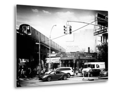Urban Scene, Coney Island Av and Subway Station, Brooklyn, Ny, US, USA, Old