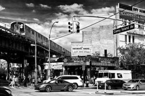 Urban Scene, Coney Island Av and Subway Station, Brooklyn, Ny, US, White Frame by Philippe Hugonnard