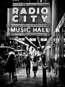Urban Scene, Radio City Music Hall by Night, Manhattan, Times Square, New York, Classic by Philippe Hugonnard