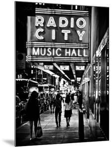 Urban Scene, Radio City Music Hall by Night, Manhattan, Times Square, New York, Classic by Philippe Hugonnard
