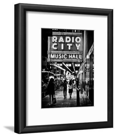 Urban Scene, Radio City Music Hall by Night, Manhattan, Times Square, New York, Classic