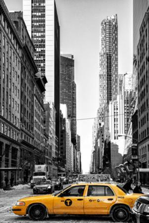 Urban Scene with Yellow Taxis by Philippe Hugonnard