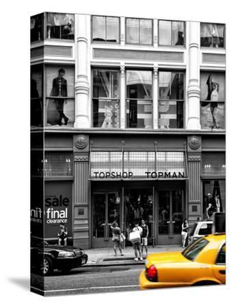 Urban Scene, Yellow Taxi, Topshop Store Front, Broadway, Soho, Manhattan, New York Colors