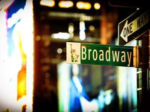 Urban Sign, Broadway Sign at Times Square by Night, Manhattan, New York, United States, USA by Philippe Hugonnard
