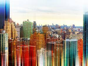 Urban Stretch Series - Skyline of Manhattan at Sunset - New York by Philippe Hugonnard