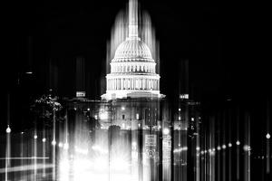 Urban Stretch Series - The Capitol Building by Night - US Congress - Washington DC by Philippe Hugonnard
