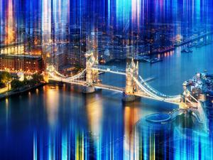 Urban Stretch Series - The Tower Bridge over the River Thames by Night - London by Philippe Hugonnard