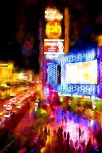 Vegas Show - In the Style of Oil Painting by Philippe Hugonnard