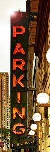 Vertical Panoramic, Garage Parking Sign, W 43St, Times Square, Manhattan, New York, US, Vintage by Philippe Hugonnard