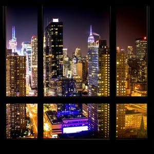 View from the Window - Midtown Manhattan Night by Philippe Hugonnard