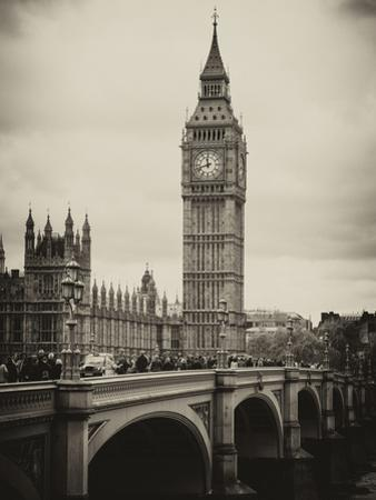 View of Big Ben from across the Westminster Bridge - London - UK - England - United Kingdom by Philippe Hugonnard