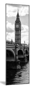View of Big Ben from across the Westminster Bridge - Thames River - London - Door Poster by Philippe Hugonnard
