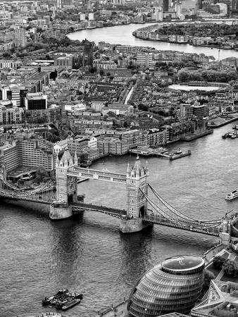 London Photo Street Photo Black And White Street View London Art Print Square Photo Urban Photo Tower Bridge Print Tower Bridge