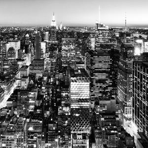 View of City, Square Landscape View by Night, Midtown Manhattan, Manhattan, NYC, USA by Philippe Hugonnard
