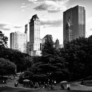 View of the Buildings around Central Park on a Summer Evening at Sunset, Manhattan, New York by Philippe Hugonnard