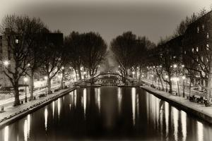 View of the Canal Saint-Martin - Paris - France by Philippe Hugonnard