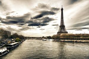 View of the Eiffel Tower - Paris - France by Philippe Hugonnard