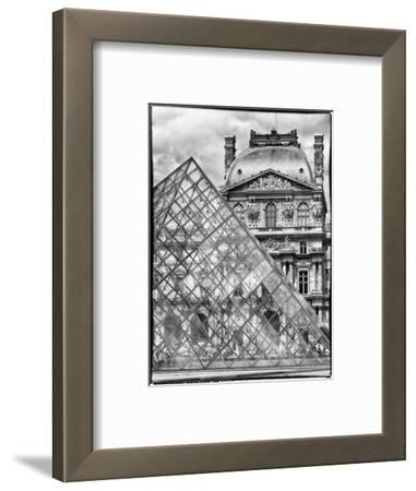 View of the Pyramid and the Louvre Museum Building, Paris, France, Europe