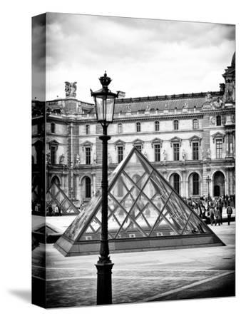 View of the Pyramid and the Louvre Museum Building, Paris, France