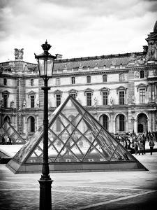 View of the Pyramid and the Louvre Museum Building, Paris, France by Philippe Hugonnard