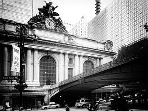 Vintage Black and White Series - Grand Central Station - 42nd Street Sign - Manhattan, New York by Philippe Hugonnard