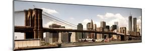 Vintage Panoramic, Skyline of NYC, Manhattan and Brooklyn Bridge, One World Trade Center, US by Philippe Hugonnard