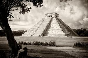 ¡Viva Mexico! B&W Collection - Chichen Itza Pyramid I by Philippe Hugonnard