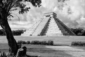 ¡Viva Mexico! B&W Collection - Chichen Itza Pyramid II by Philippe Hugonnard