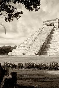 ¡Viva Mexico! B&W Collection - Chichen Itza Pyramid III by Philippe Hugonnard