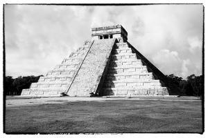 ¡Viva Mexico! B&W Collection - Chichen Itza Pyramid V by Philippe Hugonnard
