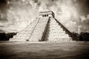 ¡Viva Mexico! B&W Collection - Chichen Itza Pyramid VI by Philippe Hugonnard