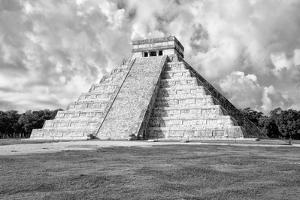 ¡Viva Mexico! B&W Collection - Chichen Itza Pyramid VII by Philippe Hugonnard