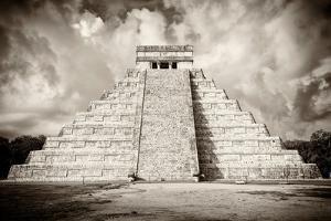¡Viva Mexico! B&W Collection - Chichen Itza Pyramid X by Philippe Hugonnard