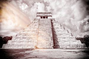 ¡Viva Mexico! B&W Collection - Chichen Itza Pyramid XII by Philippe Hugonnard