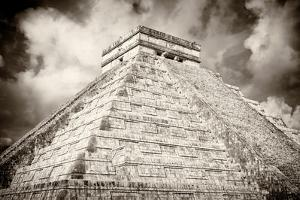 ¡Viva Mexico! B&W Collection - Chichen Itza Pyramid XIII by Philippe Hugonnard