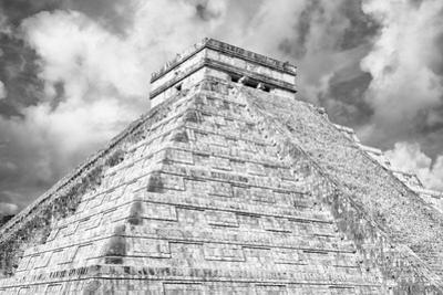 ¡Viva Mexico! B&W Collection - Chichen Itza Pyramid XIV by Philippe Hugonnard