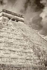 ¡Viva Mexico! B&W Collection - Chichen Itza Pyramid XV by Philippe Hugonnard