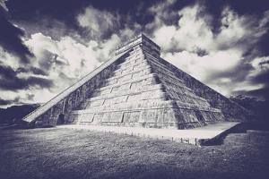 ¡Viva Mexico! B&W Collection - Chichen Itza Pyramid XVII by Philippe Hugonnard