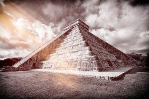 ¡Viva Mexico! B&W Collection - Chichen Itza Pyramid XX by Philippe Hugonnard