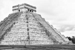 ¡Viva Mexico! B&W Collection - Chichen Itza Pyramid XXII by Philippe Hugonnard