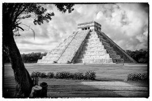 ¡Viva Mexico! B&W Collection - Chichen Itza Pyramid by Philippe Hugonnard