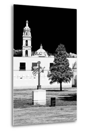 ¡Viva Mexico! B&W Collection - Courtyard of a Church in Puebla II