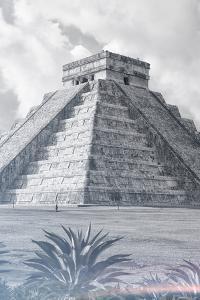 ¡Viva Mexico! B&W Collection - El Castillo Pyramid III - Chichen Itza by Philippe Hugonnard