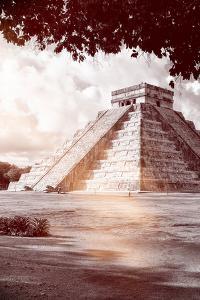 ¡Viva Mexico! B&W Collection - El Castillo Pyramid in Chichen Itza IX by Philippe Hugonnard