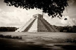 ¡Viva Mexico! B&W Collection - El Castillo Pyramid in Chichen Itza VII by Philippe Hugonnard