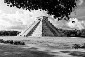 ¡Viva Mexico! B&W Collection - El Castillo Pyramid in Chichen Itza VIII by Philippe Hugonnard
