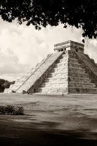 ¡Viva Mexico! B&W Collection - El Castillo Pyramid in Chichen Itza X by Philippe Hugonnard