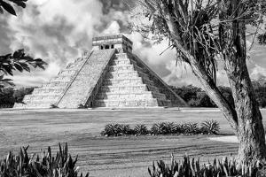 ?Viva Mexico! B&W Collection - El Castillo Pyramid XIII - Chichen Itza by Philippe Hugonnard
