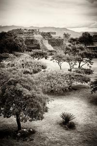 ¡Viva Mexico! B&W Collection - Monte Alban Pyramids V by Philippe Hugonnard