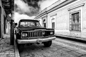 ¡Viva Mexico! B&W Collection - Old Black Jeep in San Cristobal de Las Casas by Philippe Hugonnard